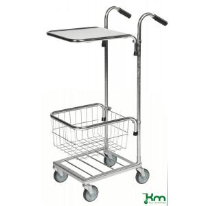 Mini trolley met 1 legbord en 1 draadmand, KM 153-HT