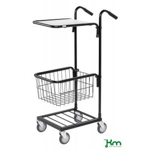 Mini trolley met 1 legbord en 1 draadmand, KM 153-HTS