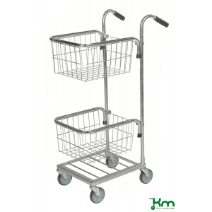 Mini trolley met 2 draadmanden, KM 153-TT
