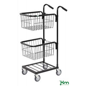 Mini trolley met 2 draadmanden, KM 153-TTS