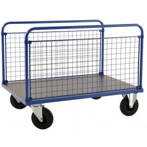 2-wandenwagen met zijwanden van gaas