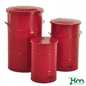 Afvalbakken rood
