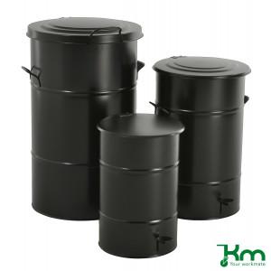 Afvalbakken zwart
