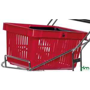 Rode kunststof winkelmand, KM 3261-R