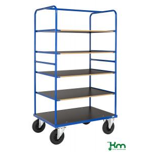 Etagewagen met MDF legborden, draagvermogen 500 kg