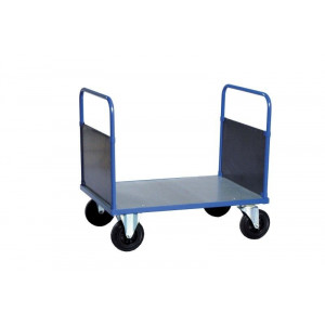 Dubbele kopwandwagen met staalvezinkte laadvloer