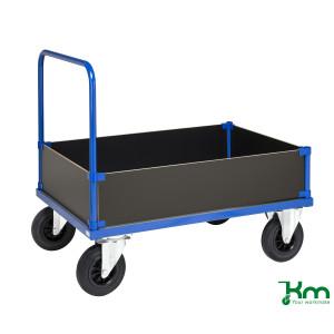Houten bakwagen met staalverzinkte laadvloer