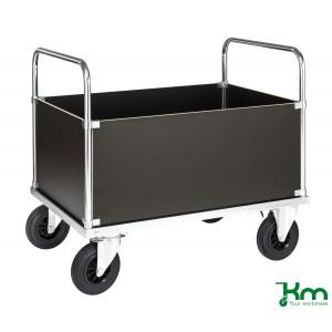 4-wandenwagen staalverzinkt met MDF laadvloer