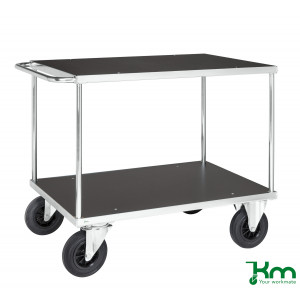 Tafelwagen staalverzinkt met MDF laadvloer en laadvlak