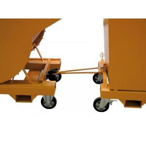 Aanhangerkoppeling met dissel voor kiepcontainer, MTF-AKD