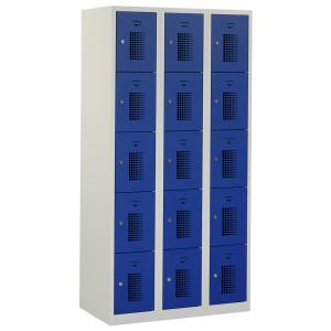 Tretal locker, type NH, 3-delig, 15 deuren