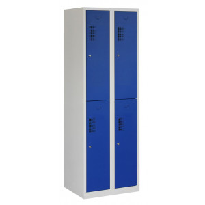 Tretal locker, type NH, 2-delig, 4 deuren