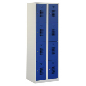 Tretal garderobekast, type NH, 2-delig, 8 deuren