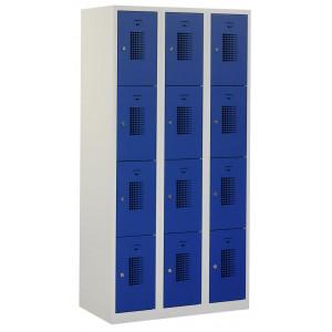 Tretal garderobekast, type NH, 3-delig, 12 deuren