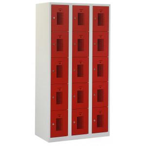 Tretal garderobekast, type NH, 3-delig, 15 deuren