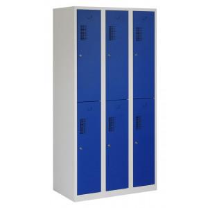 Tretal garderobekast, type NH, 3-delig, 6 deuren