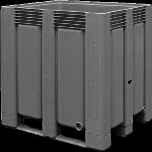 Tretal kunststof palletbox met sleeplatten 1200 x 1000 x 1200 mm
