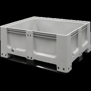 Tretal kunststof palletbox met sleeplatten 1200 x 1000 x 580 mm