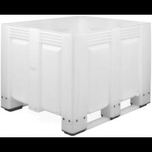 Tretal kunststof palletbox met sleeplatten 1200 x 1000 x 760 mm