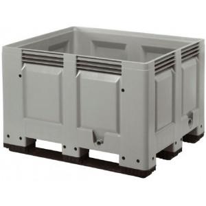 Tretal kunststof palletbox met sleeplatten 1200 x 1000 x 790 mm