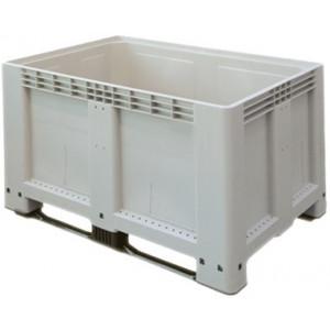 Tretal kunststof palletbox met sleeplatten 1200 x 800 x 800 mm