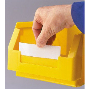 Etiket, wit voor ®RasterPlan magazijnbak grootte 5 en 6