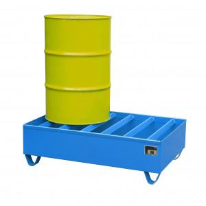 Profiel opvangbakken voor 2x 200 liter vaten, vervaardigd van 2mm staalplaat